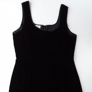 Laura Ashley 12 42 VTG Velvet Dress Viscose Silk